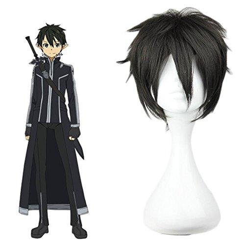 Harajuku Halloween Costumes (Mcoser Sword Art Online- Kiritani Cosplay Anime Wig(black))