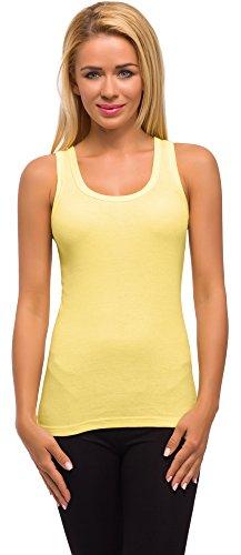 Merry Style Damen Unterhemd 3er Pack PD1X1 Gelb jV9cx0jz9G