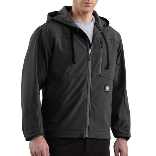 Carhartt Jacket Soft (Carhartt Men's Soft Shell Hooded Jacket Ripstop,Black  (Closeout),Small)