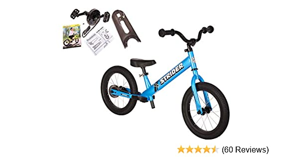 f51bf0259c2 Amazon.com: Strider - 14X 2-in-1 Balance to Pedal Bike Kit, Awesome Blue:  Toys & Games