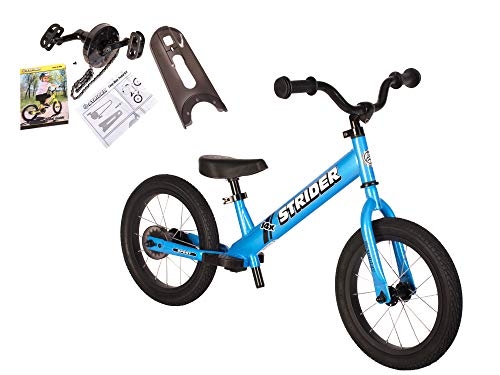 Strider - 14X 2-in-1 Balance to Pedal Bike Kit, Awesome Blue
