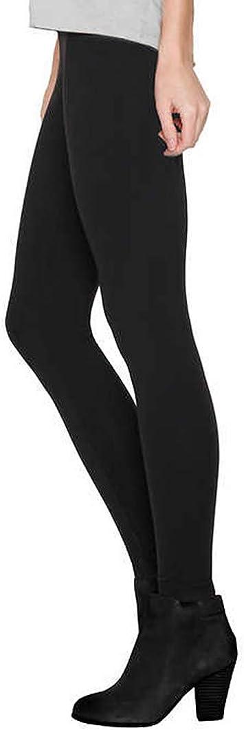 Matty M Ladies' Legging, Thicker Material, Wide Waist Band (XXLarge, Black)