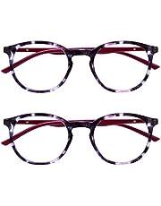 Opulize Met 2 Stuks Leesbril Groot Ronde Zwart Bruin Purper Groen Grijs Doorzichtig Mannen Vrouwen Scharnieren Veer RR60