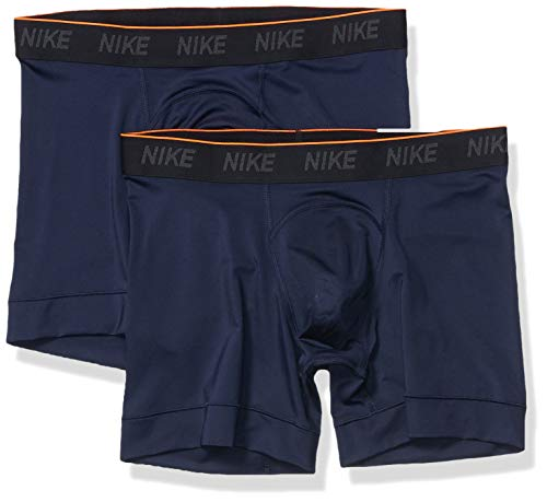 Nike Men's Training Boxer Briefs, Dri-FIT Men's Underwear with Sweat-Wicking Support, 2 Pack, Obsidian/Obsidian/White, 4XL