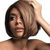 VonVonCo Brazilian Virgin Charming Wig Hair Full Short Bob Wigs For Fashion Black Women (28cm, Brown)