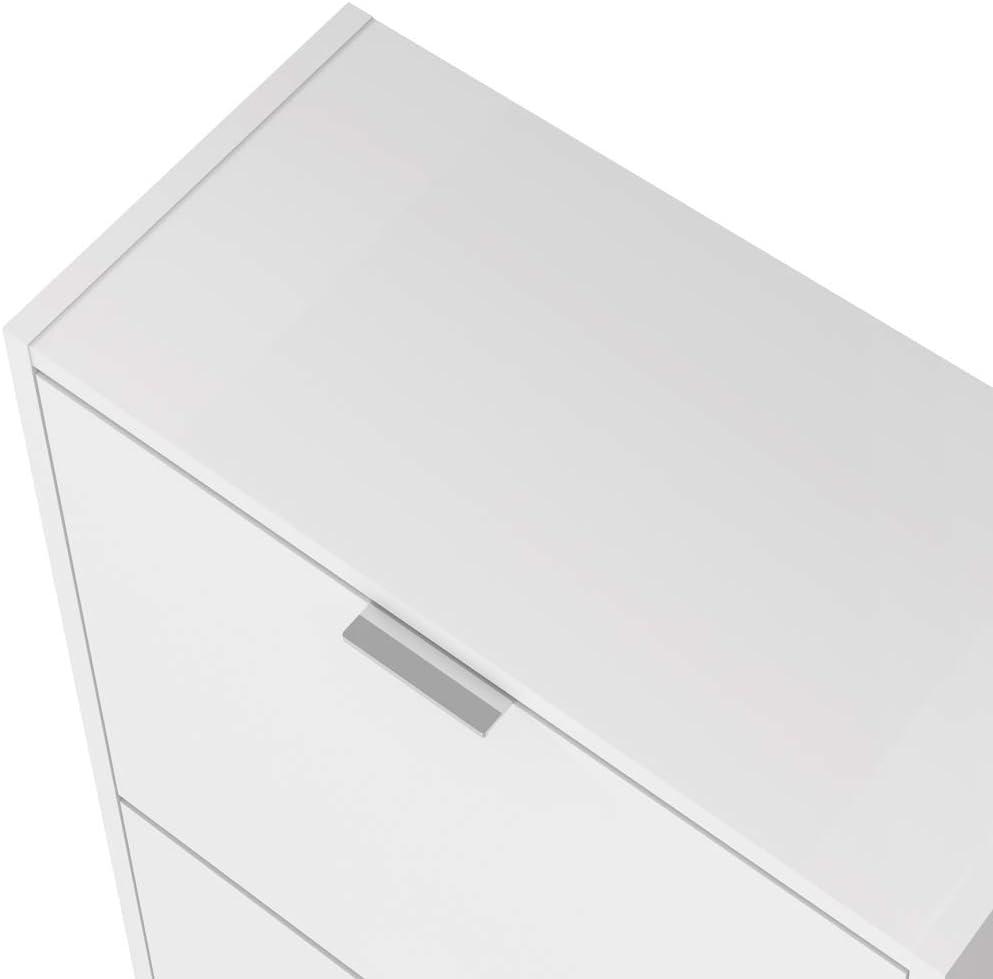Estilo y diseño zapatero estrecho blanco
