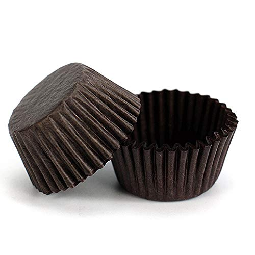 Mini Baking Paper Cup 400-Pack Brown Cupcake Liners Disposable Baking Cup Muffin Liners for Baking ()