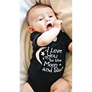 SOURBAN Baby Boy Girl Romper Jumpsuit Moon Stars Letters Printing Bodysuit Outfit Clothes