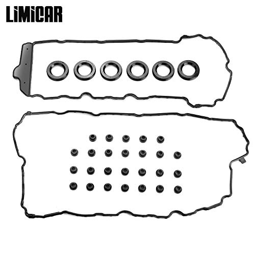 (LIMICAR Engine Valve Cover Gasket Set VS50808R Compatible with 2009-2013 Buick Cadillac Chevrolet GMC Saab Saturn 3.0L)