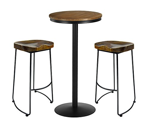 VILAVITA 3 Piece Bar Table Set 41.5