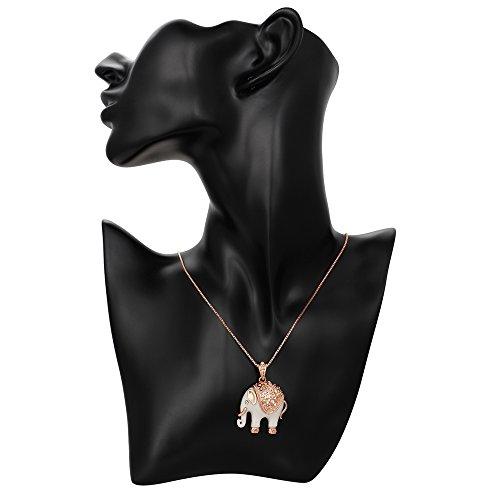 Kemstone-Rose-Gold-Tone-Elephant-Pendant-Necklace-Women-Jewelry-15177-Extender