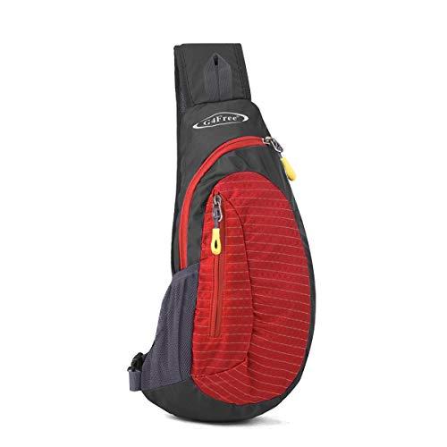 Small Backpacks Sling - G4Free Sling Bags Men Shoulder Backpack Mini Chest Day Bag Small Cross Body(Red)