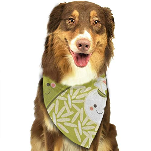 OURFASHION Dumplings with Rice Bandana Triangle Bibs Scarfs Accessories for Pet Cats and Puppies.Size is About 27.6x11.8 Inches (70x30cm). ()