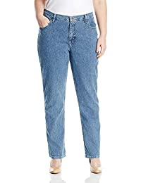 Riders by Lee Indigo Womens Plus Size Joanna Classic 5 Pocket Jean Jeans