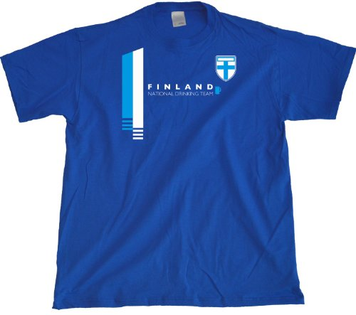 Ann Arbor T-Shirt Co. Men's Finland National Drinking Team T-Shirt