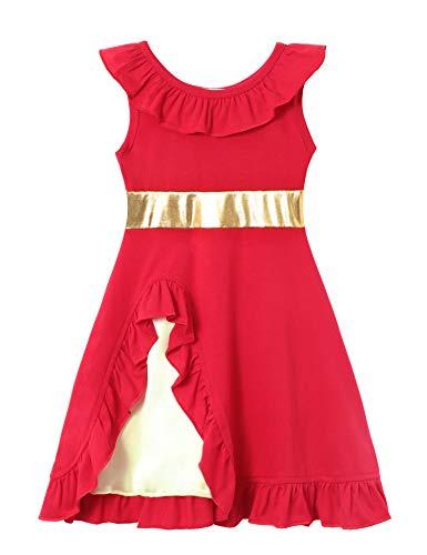 Cotton Baby Girl Clothes Summer Little Princess Toddler Kids Party Tutu Dresses (C1 Size 5)