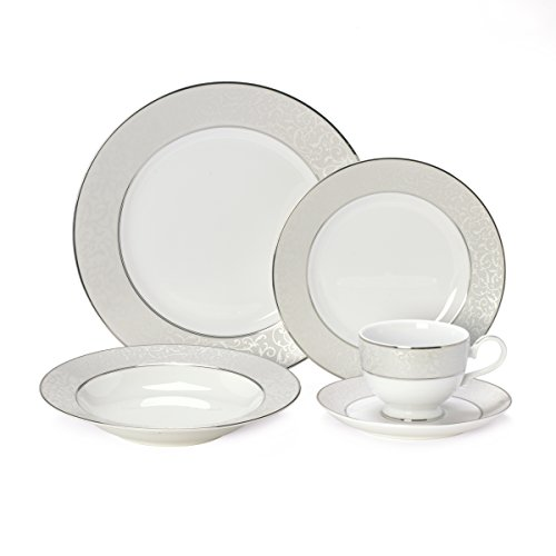 Mikasa Elegant Scroll - Mikasa Parchment 40-Piece Dinnerware Set, Service for 8