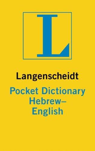 Pocket Dictionary. Hebrew-Englisch