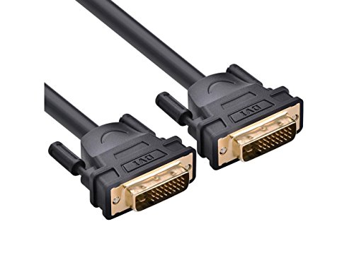 100ft/30m DVI-D 24+1 Extension cable ,DVI-D 24+1 Dual Link Male to Male Digital Video Cable Gold Plated with Ferrite Core Support 2560x1600 for Gaming, DVD, Laptop, HDTV and Projector by tekit