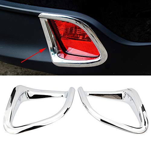 Senzeal ABS Chrome Rear Fog Light Lamp Frame Cover Trim for Toyota Highlander 2015 2016 2017 2018 2019 2PCS