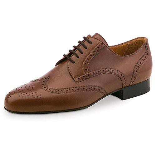 Werner Kern–Zapatillas de danza para hombre 28023piel [normal] Glattleder Cognac