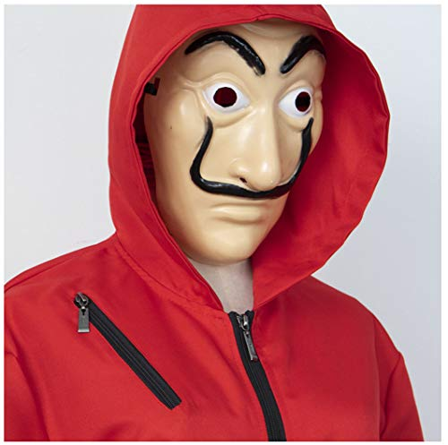 Amazon.com: idea cosplay Unisex Adults Kids La Casa De Papel Dali Red Jumpsuits Mask Costume: Clothing