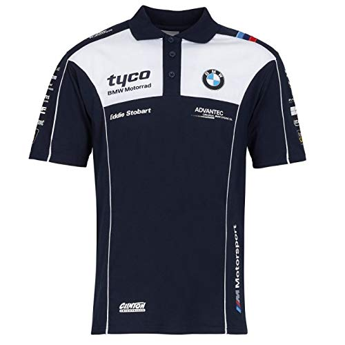 Tyco BMW British Superbike /& International Racing Polo Chemise Officiel 2019