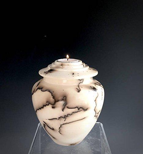 Ceramic Candle Urn, Prayer Pot, Cremation Urn, Horsehair pottery, Memorial Keepsake Urn, Pet urn, Ceramic Fine Art, Sacred Urns Fine Ceramic Urn