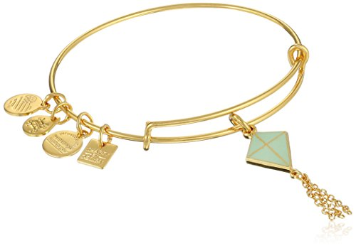 Alex and Ani Charity By Design Inspiration In Flight Shiny Gold/Green Bangle Bracelet