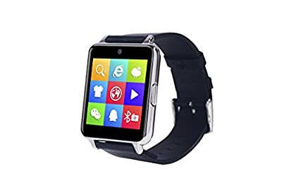 OUMAX® Bluetooth Smart Watch S6 Plus for iPhone 6, 6 Plus, 6S and Samsung S6, Note 5 (Full Function Support for iOS 9.0 and Android 4.3 or above)IPS Panel/Premium Leather Strap