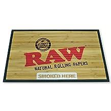 "RAW Natural Rolling Papers - Bamboo Door Mat 30"" x 18"""