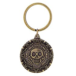 Disney Pirates Of The Caribbean Brass Coin Keychain- Disney Parks Exclusive & Limited Availability