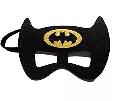 12 Pieces Superheroes Party Character Felt Fun Cosplay Masks Headwear Spiderman Superman Boys and Girls Theme (Batman)