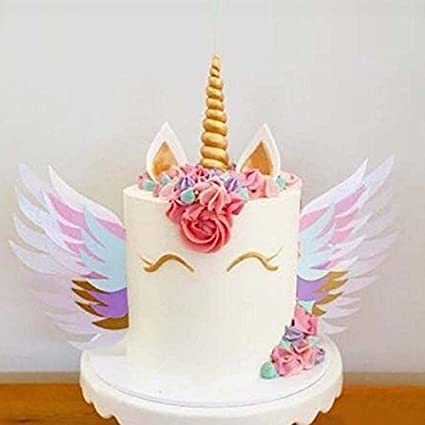 Amazon Com Let S Dream Unicorn Wings Wedding Cake Topper For Decor