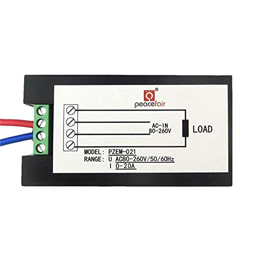 AC 80V-260V 20A 4 in 1 Digital LCD Display Digitale Stromvoltmeter Amperemeter-Energien-Energie-Multimeter Panel-Tester Meter