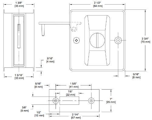 Harney Hardware 32517 Privacy Lock Pocket Door Hardware