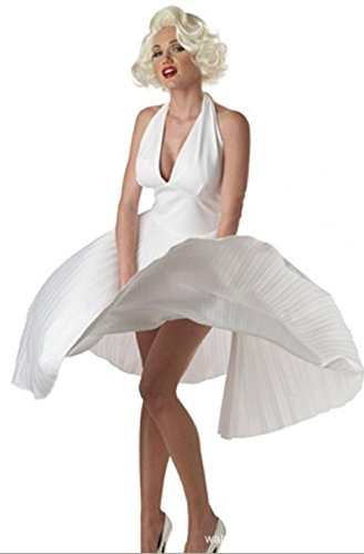 Deluxe Marilyn Costumes (Riekinc White Women's Deluxe Marilyn Costume)