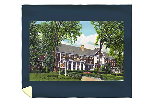 Lantern Press Great Barrington, Massachusetts - Exterior View of The Berkshire Inn 19213 (88x104 King Microfiber Duvet Cover)