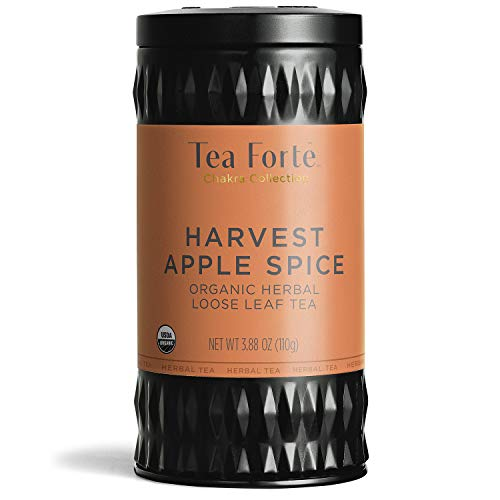 Tea Forte Organic Herbal Tea HARVEST APPLE SPICE, 3.88 Ounce Loose Leaf Tea Canister