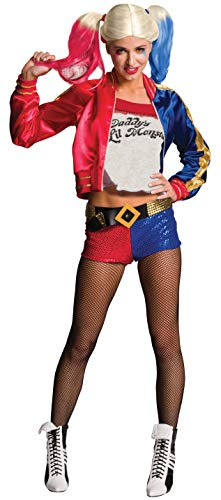 Rubie's Costume Co Women's Suicide Squad Deluxe Harley Quinn Costume, Multi, Small (Hot Topic Corset)
