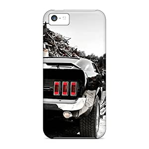 Great Hard Cell-phone Cases For Iphone 5c With Customized Stylish Ford Mustang Skin SherriFakhry