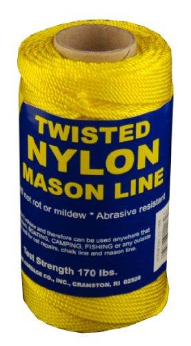 T.W Evans Cordage 11-184 Number-18 Twisted Nylon Mason Line, 275-Feet, Yellow