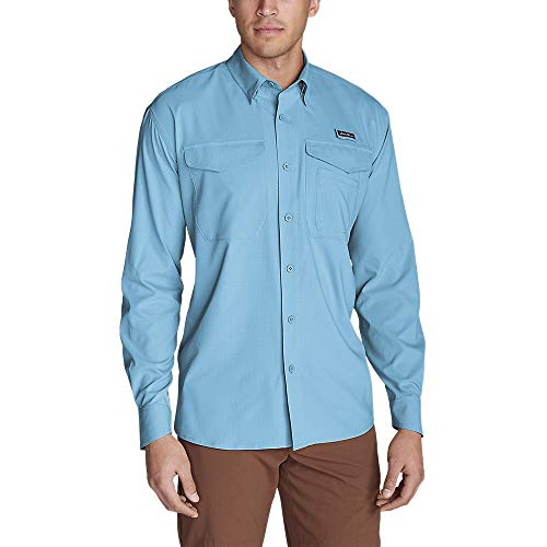 Eddie Bauer Men's Ahi Long-Sleeve Shirt, SkyBlue Regular