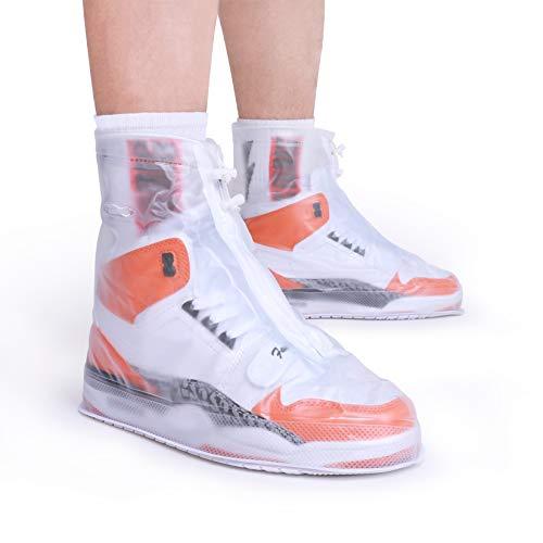 ARUNNERS Shoe Covers for Rain Women (White, L)