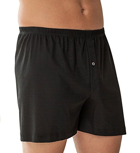 Zimmerli Business Class Open Fly Boxer (220-598) M/Black by Zimmerli of Switzerland (Image #2)
