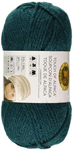 (Lion Brand Yarn 674-178 Touch of Alpaca Yarn, Jade (Renewed))