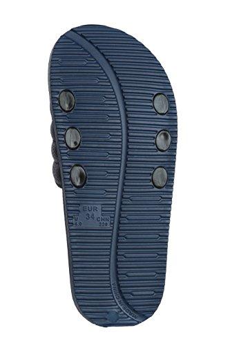 Beach Slide Toe Flip with Non Slipper Pupeez Shoe Shower and Sandals; Open Arch Flop Support Blue Boy's Slip nXqnEBAzf