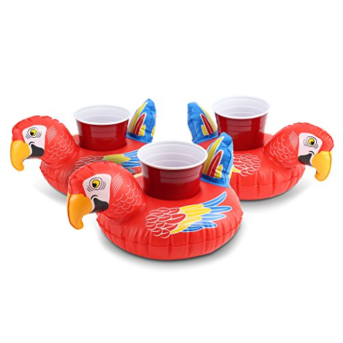 - GoFloats Parrot Party Parrot Drink Float 3 Pack
