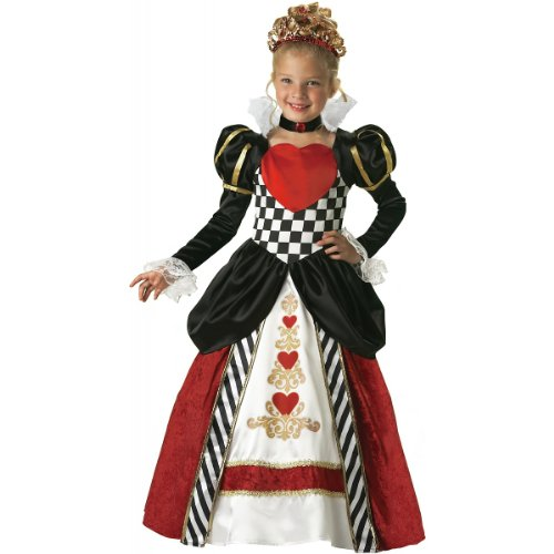 InCharacter Costumes Girls Queen of Hearts Costume Black/Red, 10 (Toddler Queen Of Hearts Halloween Costume)