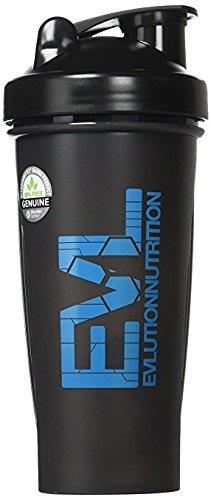 Evlution Nutrition Blender Bottle Black With EVL Logo 28 Ounces